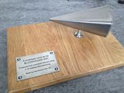 BLOODHOUND prototype nose cone presented to David Willetts (image courtesy BLOODHOUND SSC)