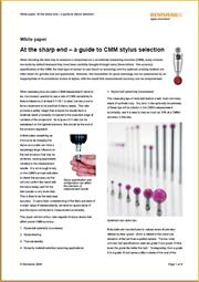 White paper:  White paper:  At the sharp end - a guide to stylus selection