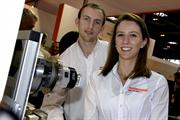 Renishaw's award winning apprentices, Tom Silvey and Roxanne Pollard