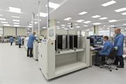 Surface mount electronics assembly line at Renishaw's Miskin facility